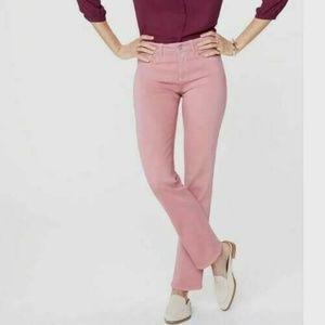 NYDJ Marilyn Straight Jeans Sz 16 Petite Wood Rose